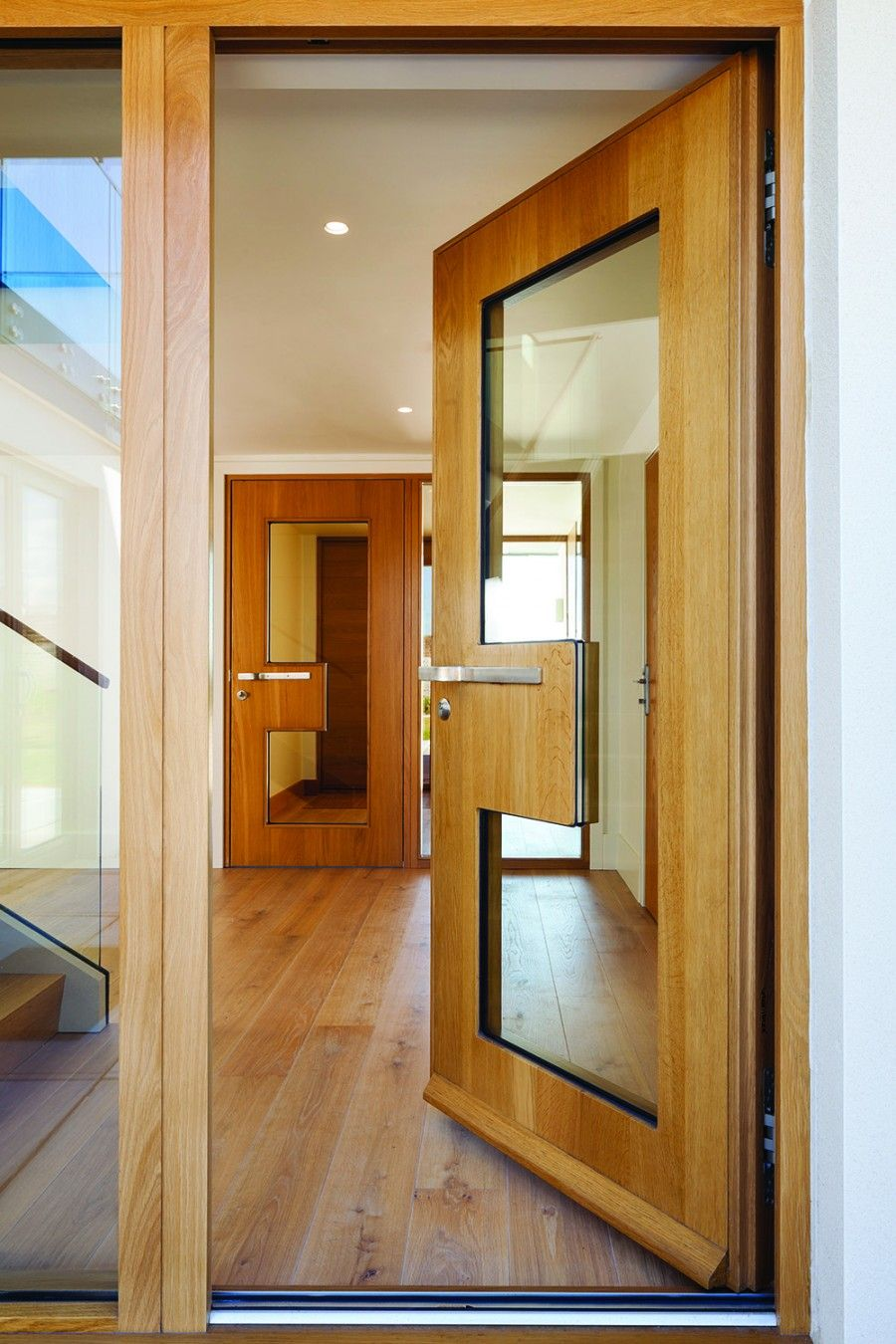 A fully glazed door with a twist