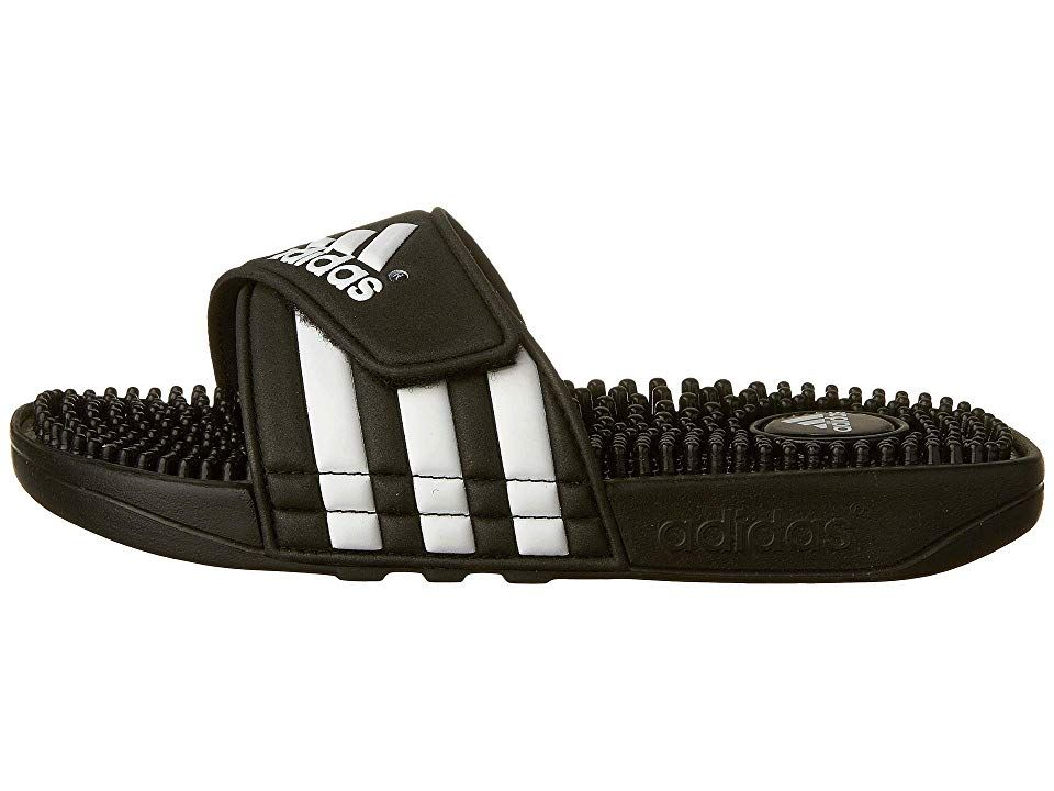 a732f9ed87cc adidas Kids Adissage K Core (Toddler Little Kid Big Kid) Kids Shoes Black  White