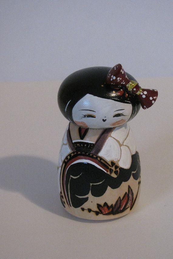 Geisha+Kokeshi+doll+by+NaomiGallery+on+Etsy,+$36.00