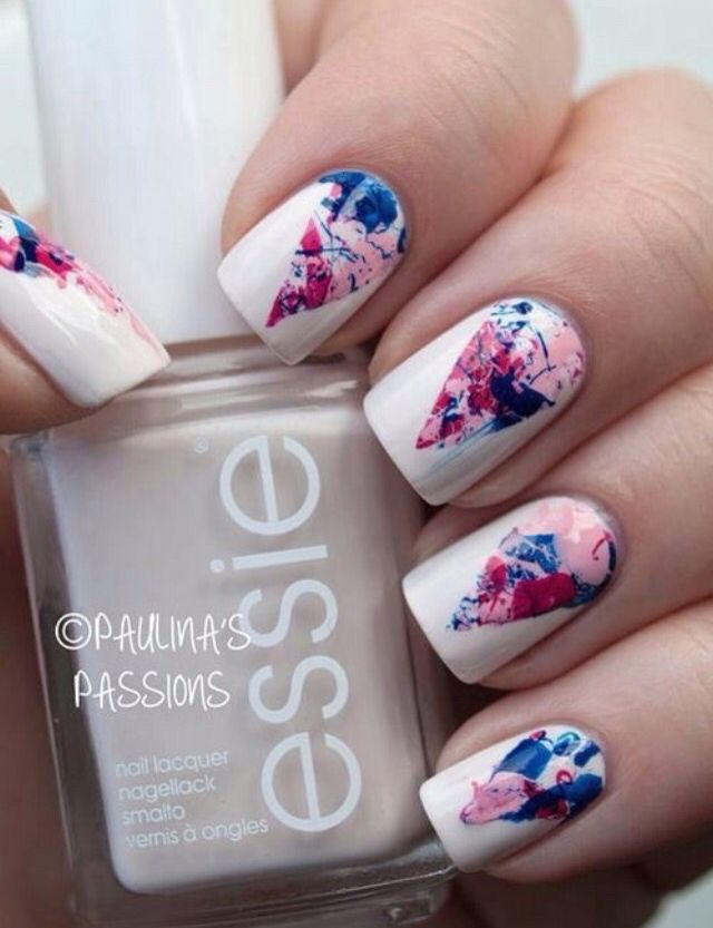 A new look for splatter nail art, looks less haphazard. - Pin By Grace Burton On Nailed It Pinterest Manicure, Nail Nail