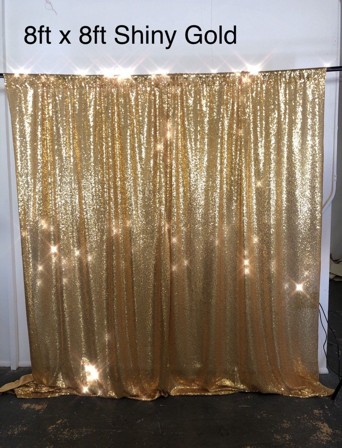 Graduation Decor Photo Backdrop Sequin Backdrop Gold Sequin