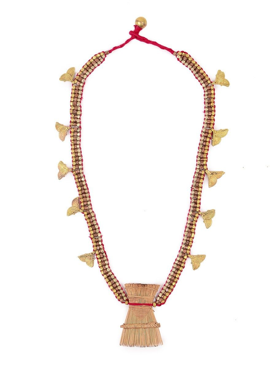 with com online buy turbancart tribal at golden neckless beads dhokra wholesale jewelry