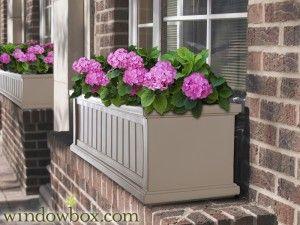 Promenade Window Box Clay Window Box Window Planter Boxes Cape Cod Window Box