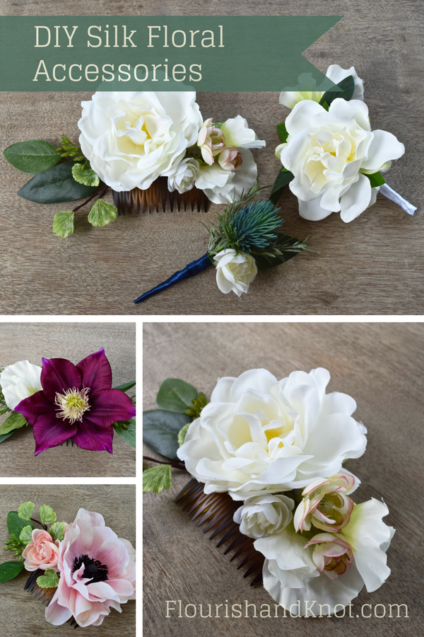 Diy silk floral hair comb pinterest diy hair accessories floral diy silk floral accessories diy silk floral hair comb diy hair accessories diy wedding comb silk corsage and boutonniere mightylinksfo