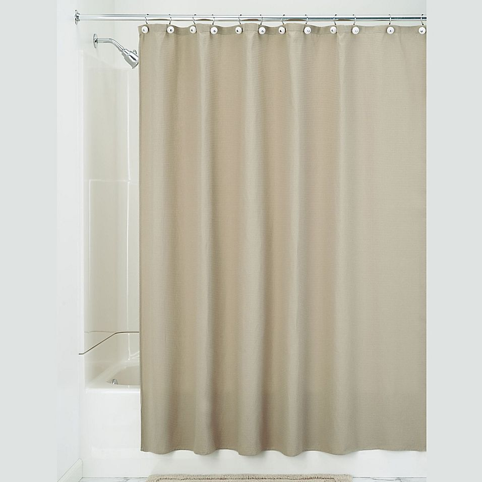 Idesign 72 Inch X 108 Inch York Shower Curtain In Beige Shower Curtain Curtains Shower