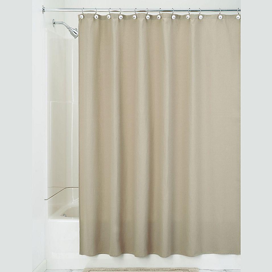 Idesign 72 Inch X 108 Inch York Shower Curtain In Beige Shower