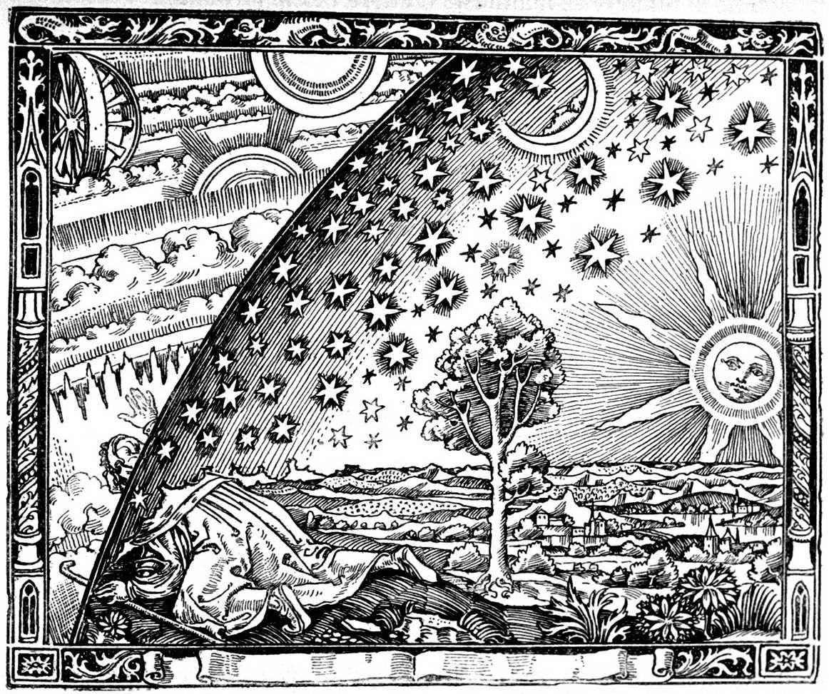 Flammarion Engraving Print Poster