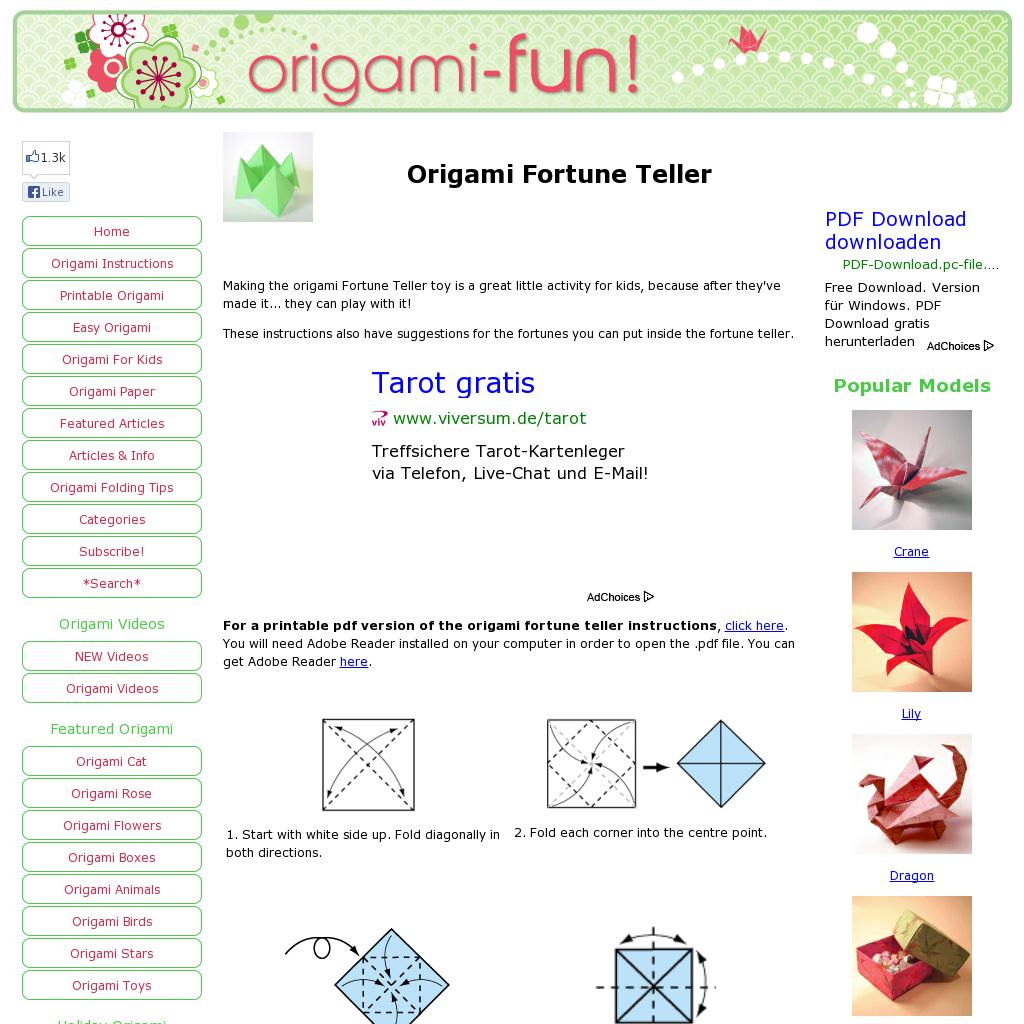 Website httporigami funorigami fortune tellerml website httporigami funorigami jeuxipadfo Image collections