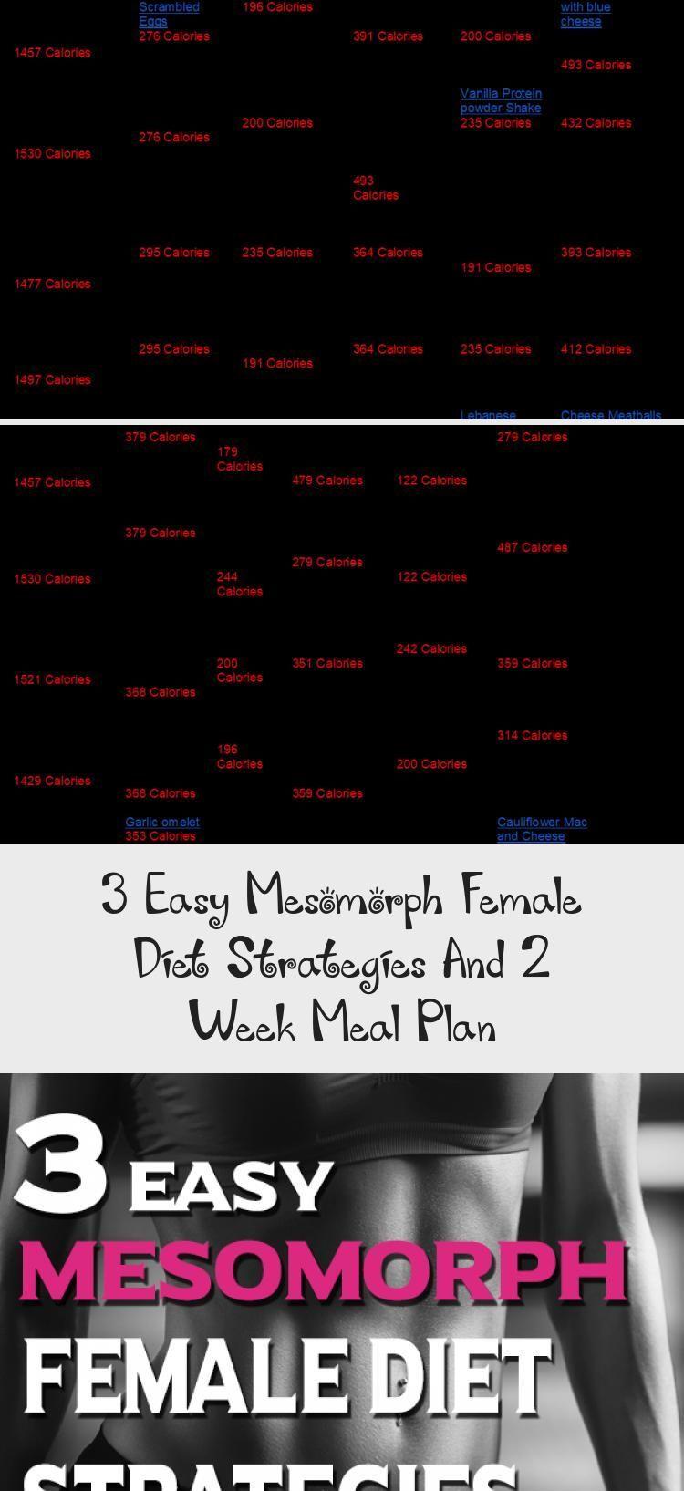 3 Easy Mesomorph Female Diet Strategies And 2 Week Meal Plan  Libifit calorie diet week diet diet diet diet dukan minceur rapide sans sucre secret diet