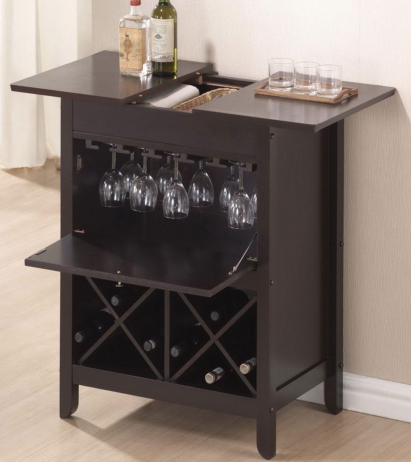 Baxton Studio Tuscany Brown Modern Dry Bar And Wine Cabinet