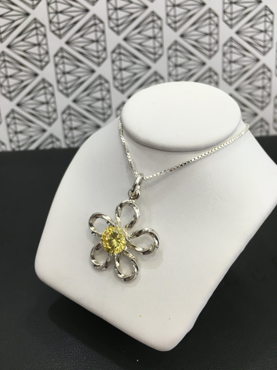 Small Medium or Large Sterling Silver Flower by TheGemSmith