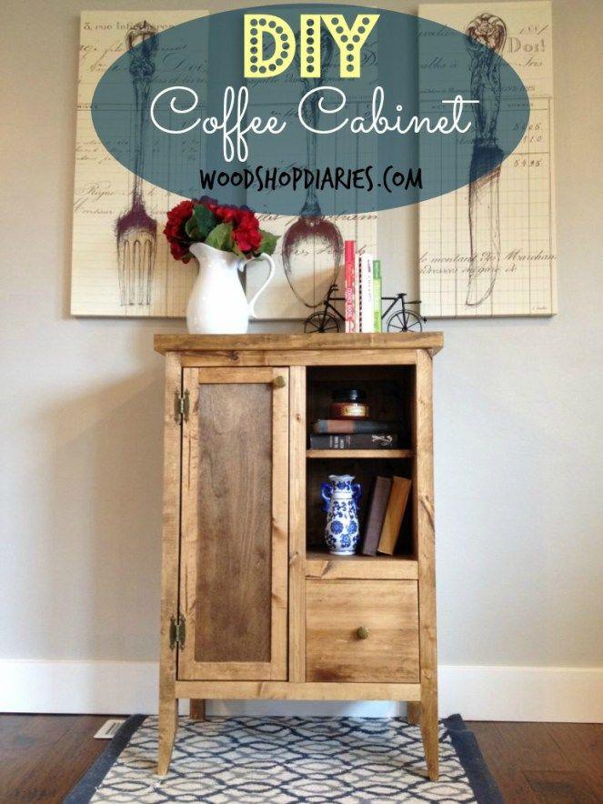 Diy Coffee Cabinet Coffee Cabinet Furniture Diy Diy Furniture