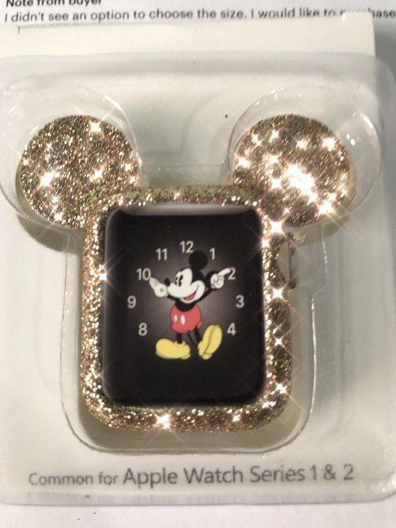 Golden Glitter Mouse Ears case in 2020 Apple watch case