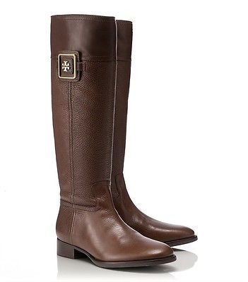 Tory Burch Brown Julian Leather 30 mm Riding Boots 9 5 Brand New Without Box | eBay