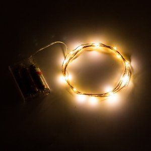 LED Light Strands Cool White (24 Lights) W/Battery Pack, Wedding Decor  Direct