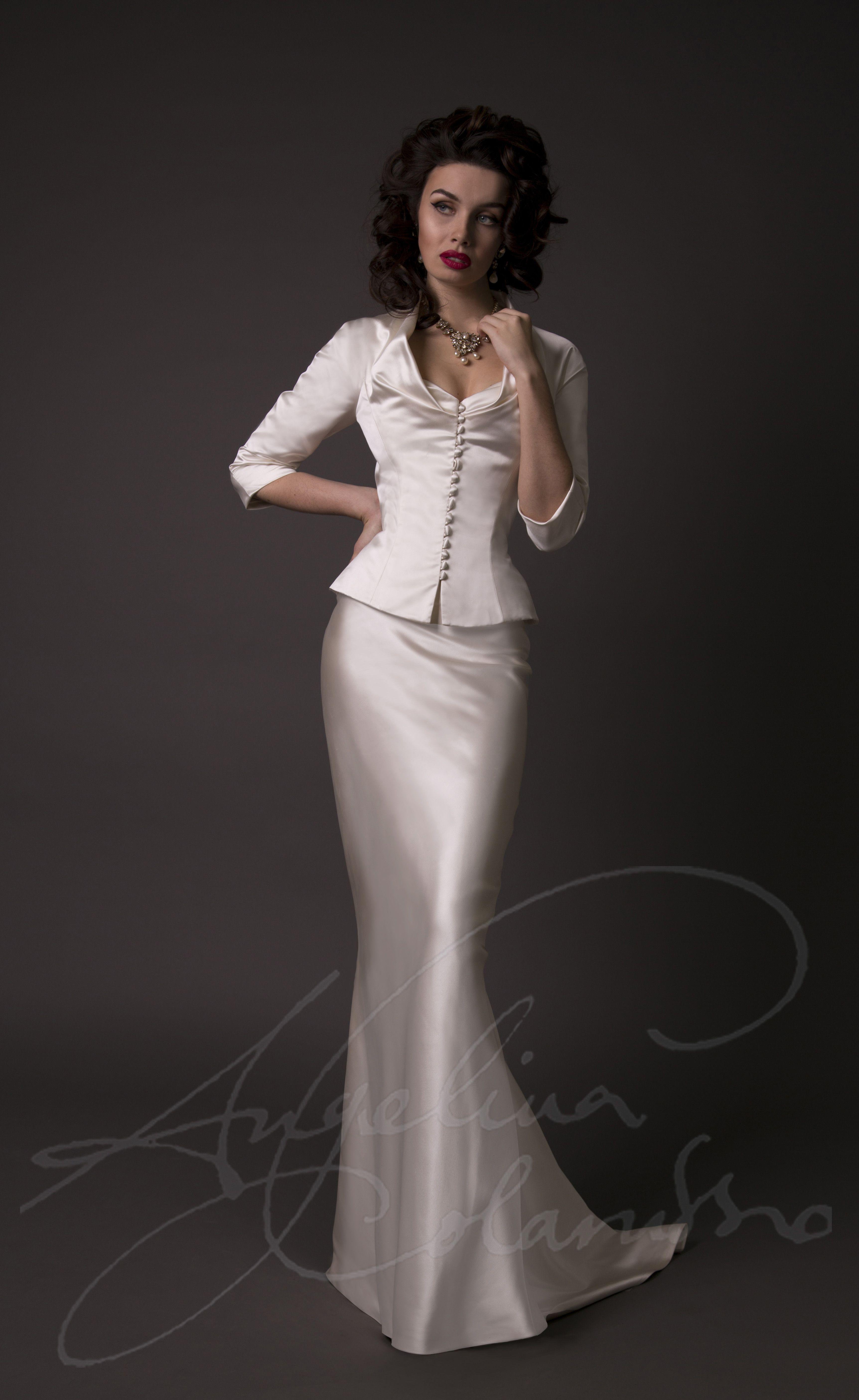 Designer wedding gown by couture bridal designer Angelina ...