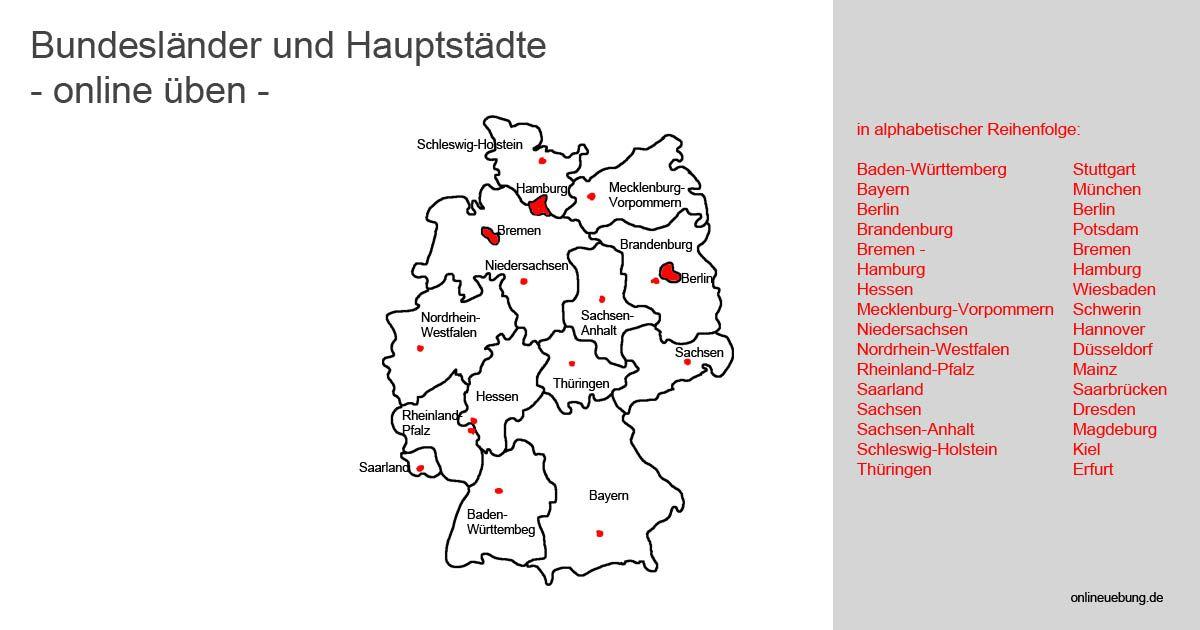 Bundeslander Und Hauptstadte In Deutschland Kennenlernen