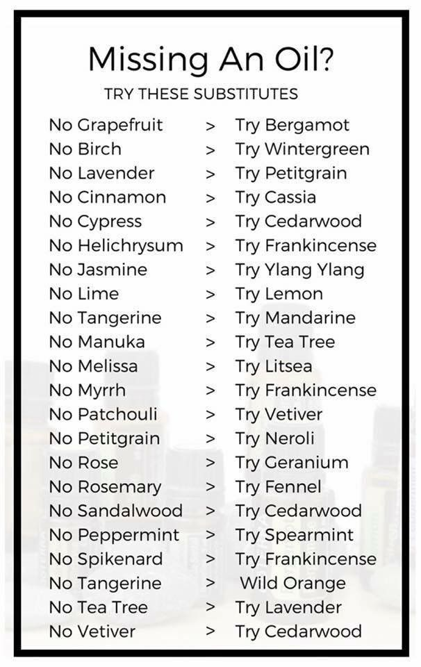 Substitutes for your favorite essential oils essentialoils essentialoilguide holisticliving nontoxichome also doterra vs young living conversion chart rh pinterest