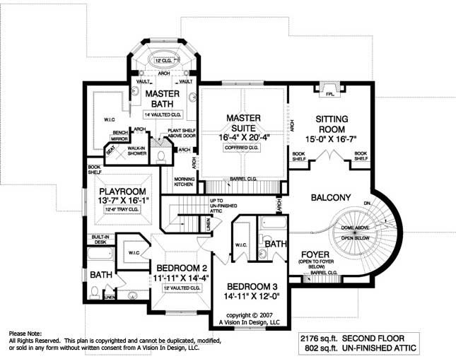house plans with circular staircase