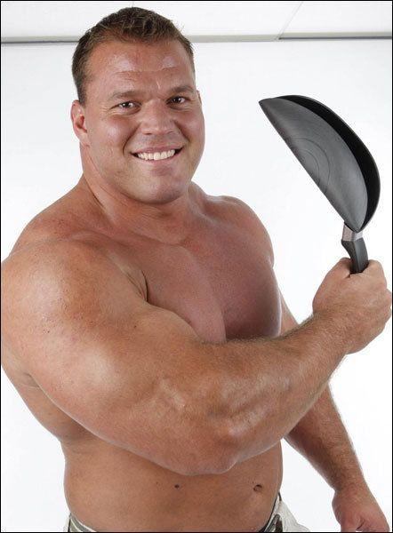 Derek Poundstone bent a frying pan. See the original video ... Derek Poundstone Reddit