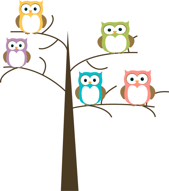 tree clip art free owls in a tree clip art image pretty owls in rh pinterest com free clipart pictures of owls