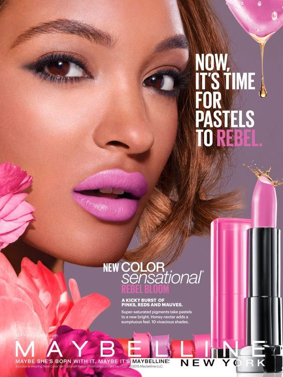JOURDAN DUNN | MAYBELLINE NEW YORK COSMETICS ADVERTISEMENT ... Maybelline Foundation Ad