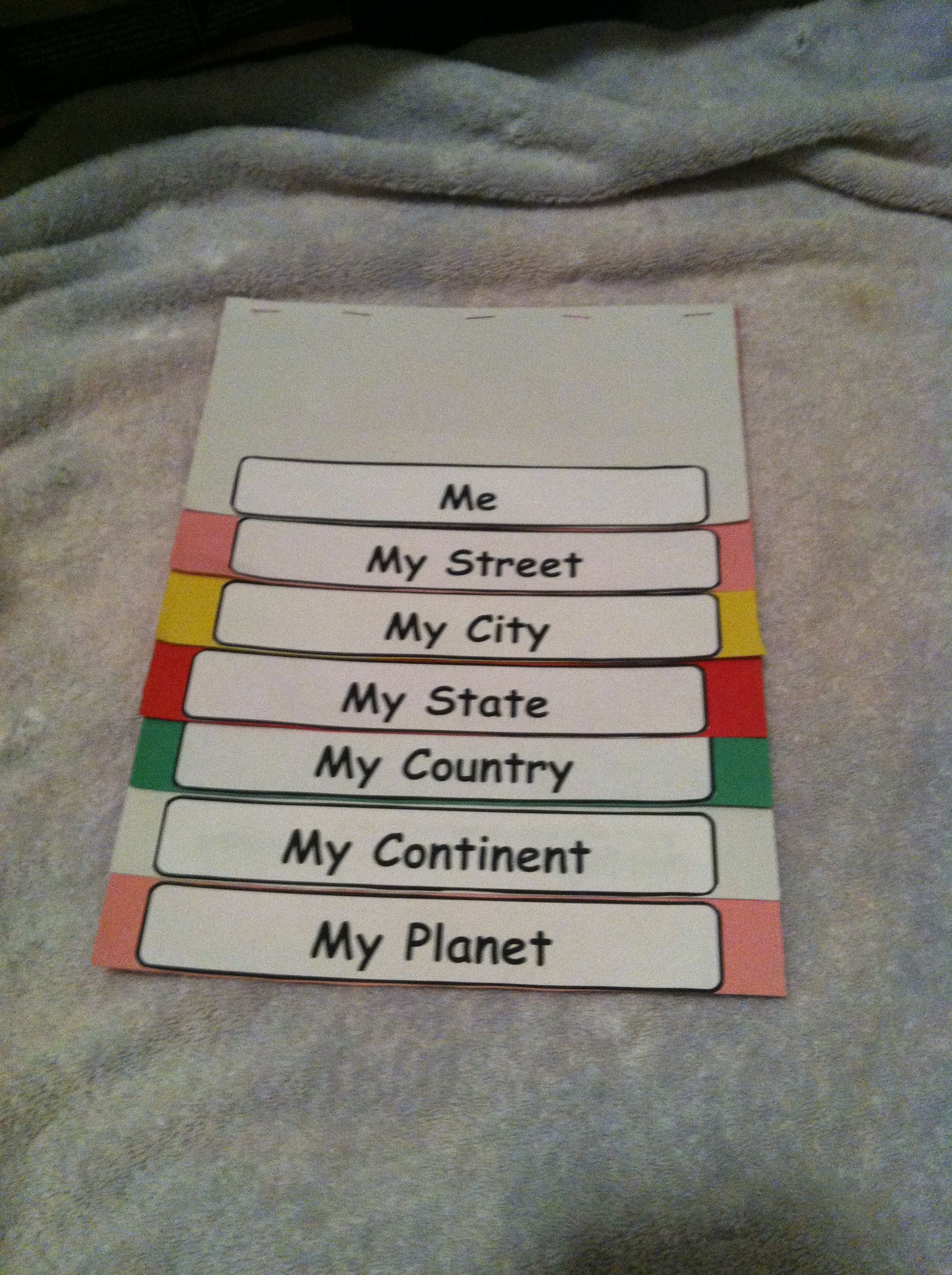 Geography Flip Chart