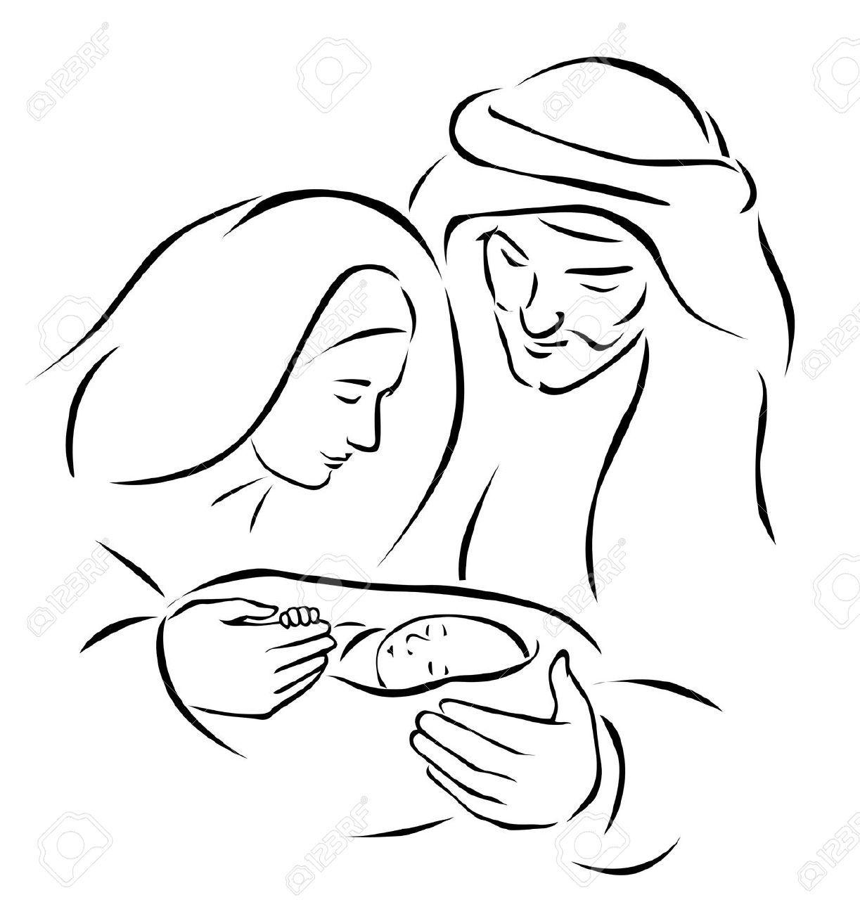 Cr¨che De No l Avec Sainte Famille L enfant Jésus Marie Et Joseph Vierge