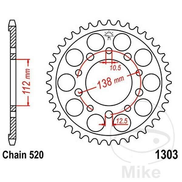 (Advertisement eBay) JT Rear Sprocket 41T 520P JTR1303.41