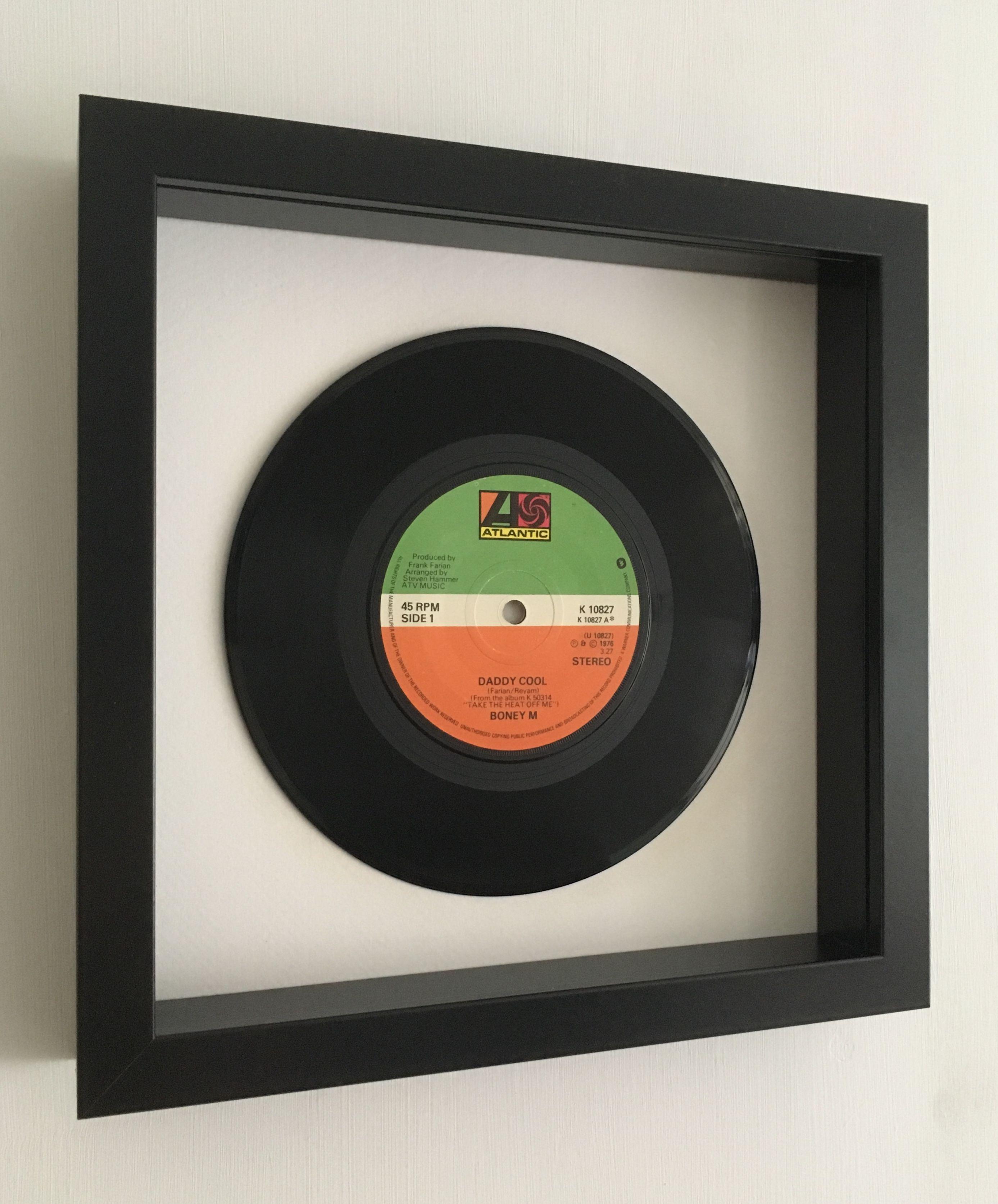 Fathers Day Gift Idea Boney M Daddy Cool Framed Vinyl Record Vinyl Records Vinyl Box Frames