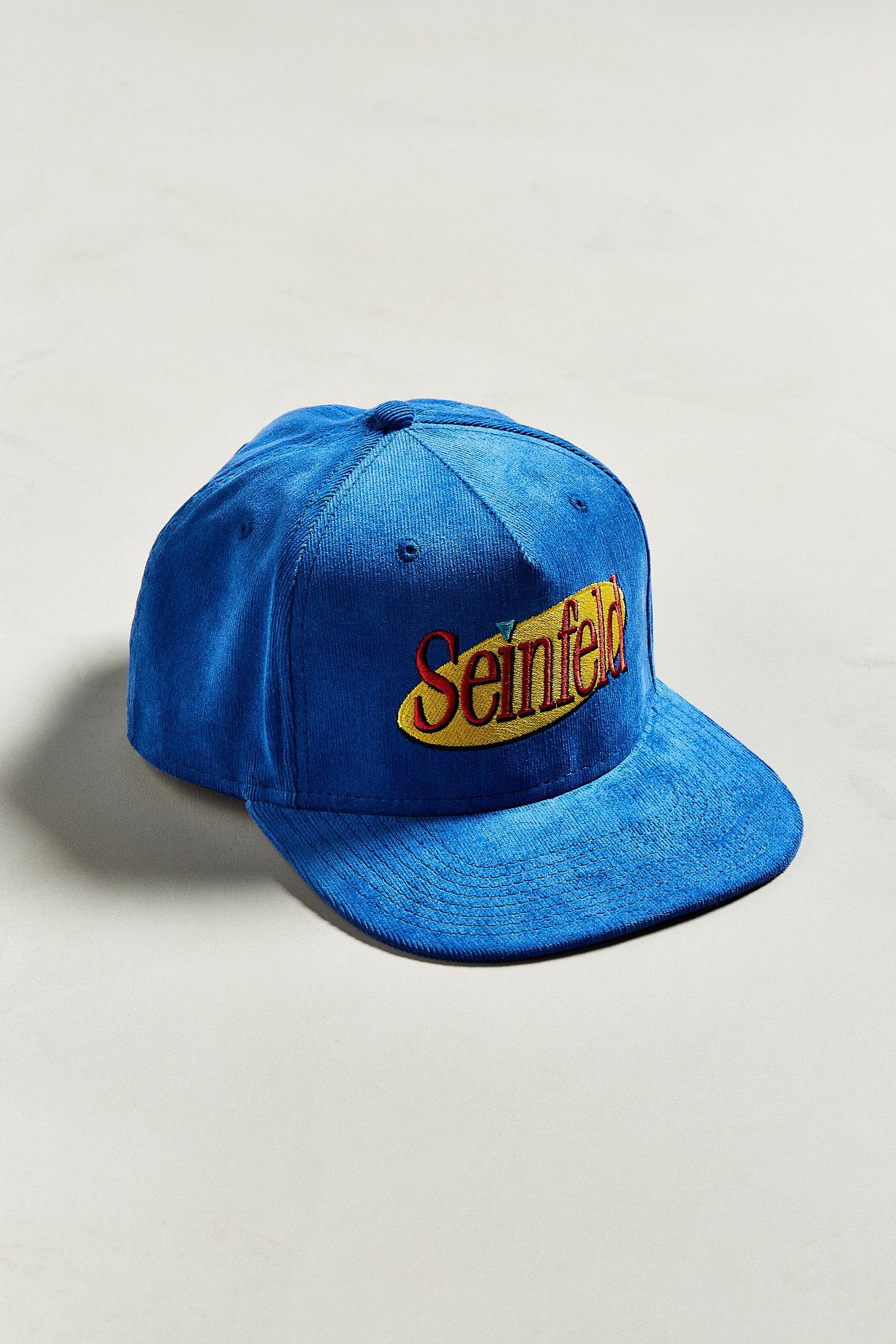5f958c3ad25 Corduroy cap featuring an embroidered Seinfeld logo at the front