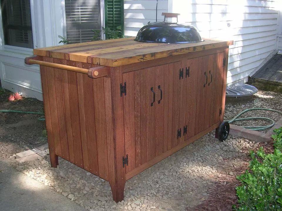 Weber Kettle Cart Outdoor Kitchen Pinterest Kettle And Kitchens