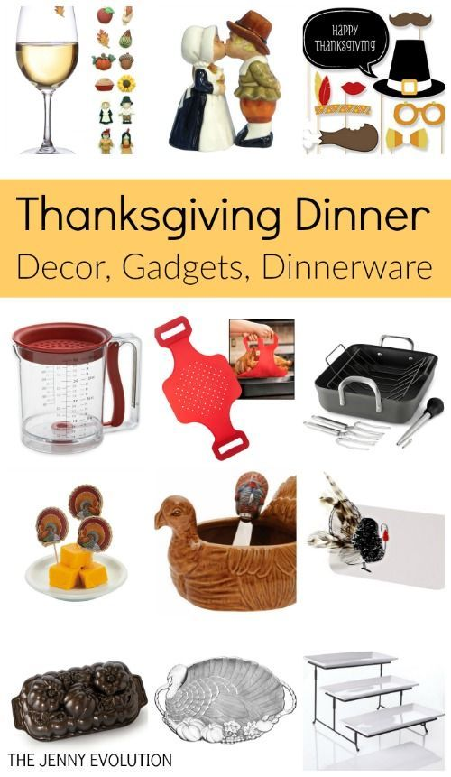 Thanksgiving Dinner Items - Supplies, Table Decor, Gadgets !! Top