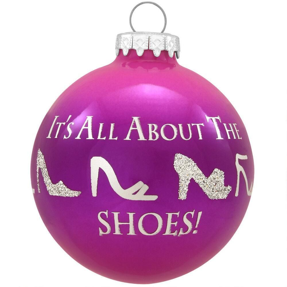 It's All About the Shoes Glass Ornament | Christmas ...