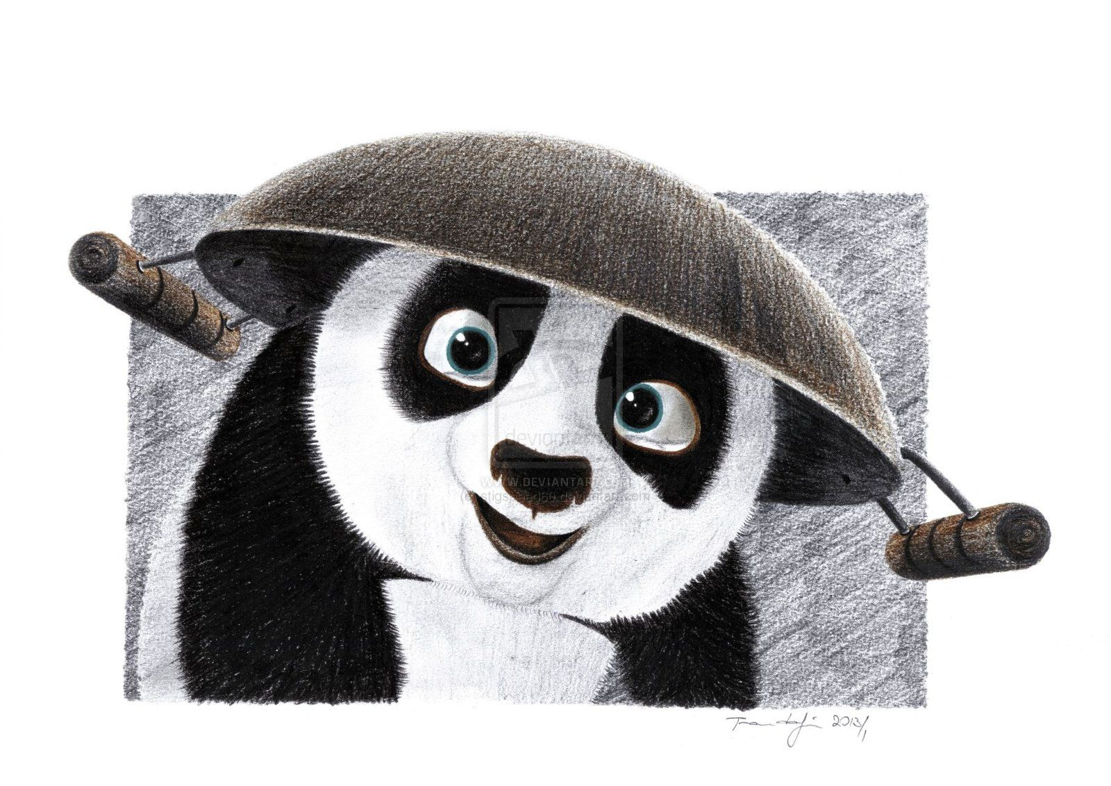 Kung fu panda pencil sketch complete drawing tutorial and manual