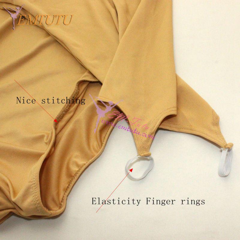 33da11335 Long Sleeve Skin Colored Ballet Dance Leotard Nude Color Ballet ...
