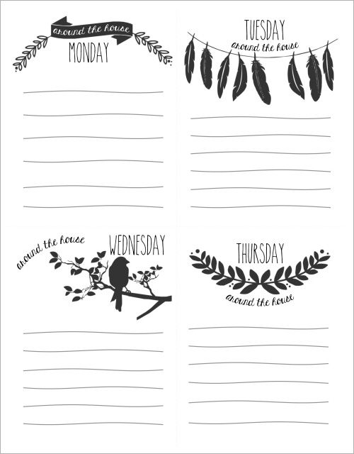 My Owl Barn Printable Daily Checklist  Lists  Planner Stuff