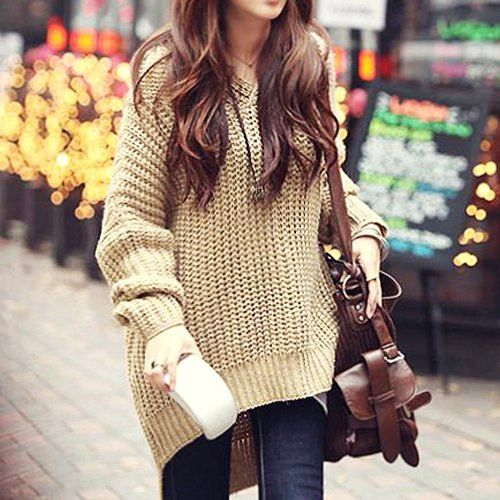 2012 Autumn Fashion Pure Color V-neck Pullover | Outerwear women ...