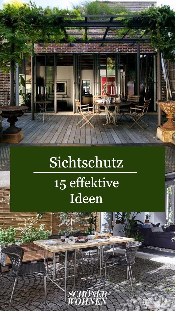 Sichtschutz für den Garten – 15 effektive Ideen für draußen