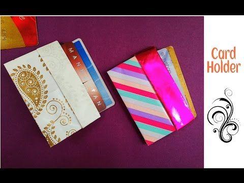 Useful Origami Paper Credit Business Card Holder Case Wallet Youtube Origami Cards Card Holder Diy Useful Origami