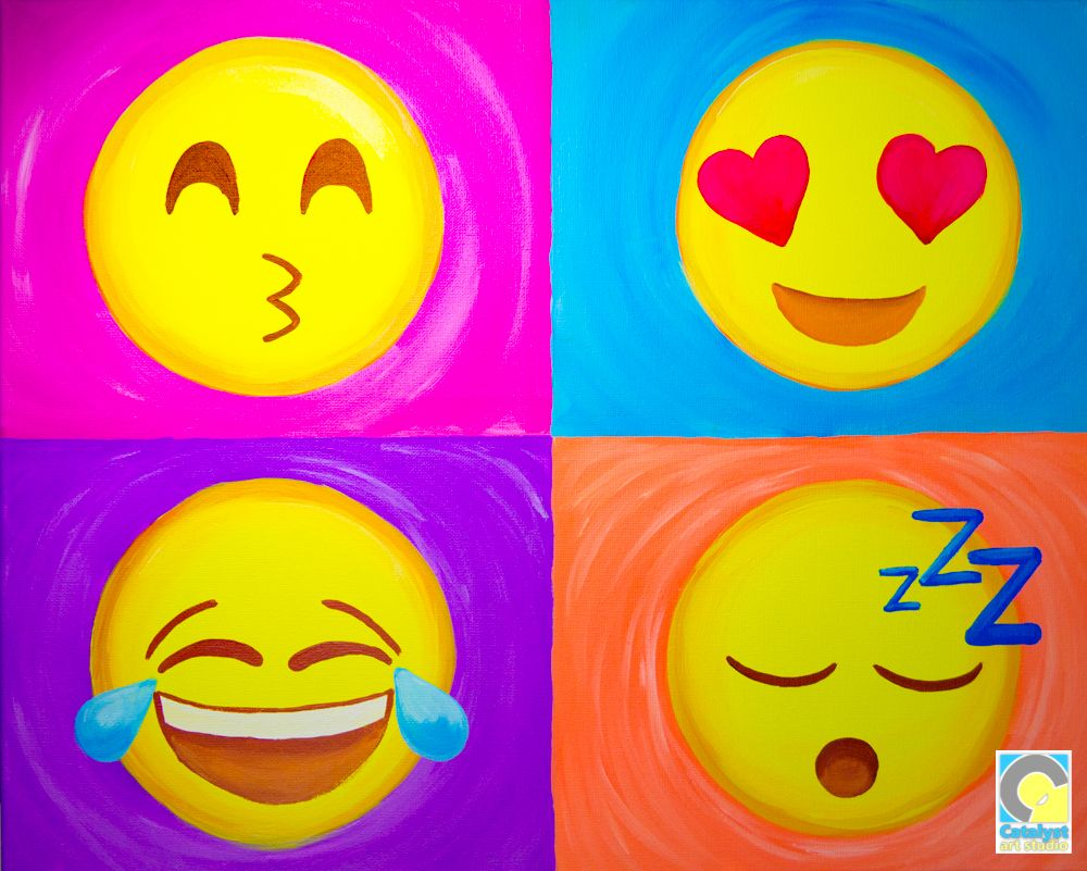 Emoji Sip and Paint Party | After School Art Projects in