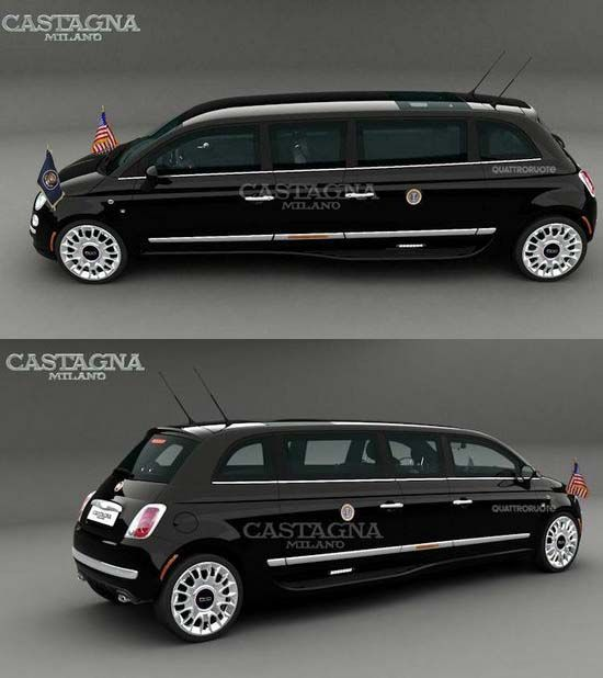 fiat 500 limousine by castagna milano voitures le camion et ma passion. Black Bedroom Furniture Sets. Home Design Ideas