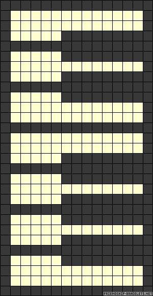 piano keys perler pattern