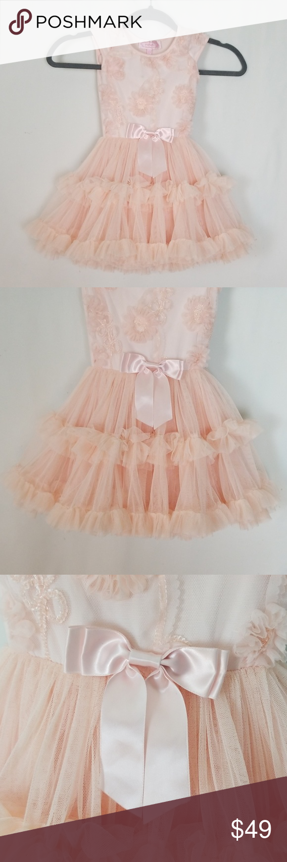 Popatu 3t 4t Ballerina Light Pink Dress This Dress Is Full And Fluffy With Three Layers Of Ruffles The Bod Light Pink Dress Ballerina Dress Pink Floral Dress [ 1740 x 580 Pixel ]