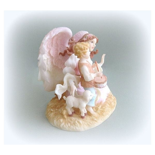 seraphim collectible angel figurine angel art christmas angel decor 29 liked on polyvore featuring home home decor angel angel decor - Christmas Angel Figurines
