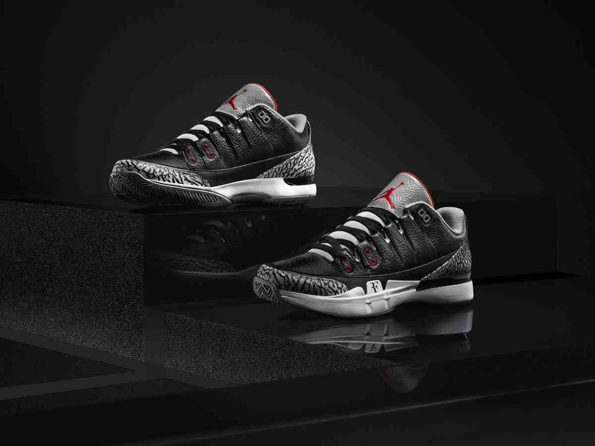 Federer Jordan Tennis Shoes | Black