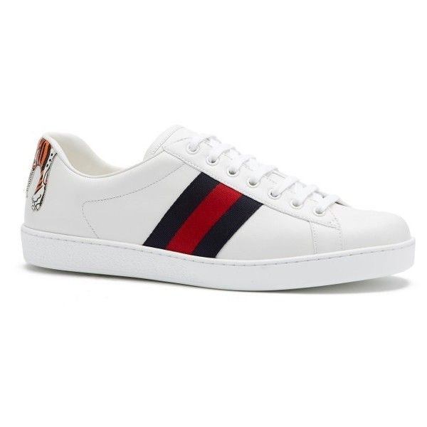 a6dd674084b Men s Gucci New Ace Tiger Sneaker ( 640) ❤ liked on Polyvore featuring  men s fashion