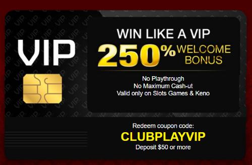 coupon code club player casino