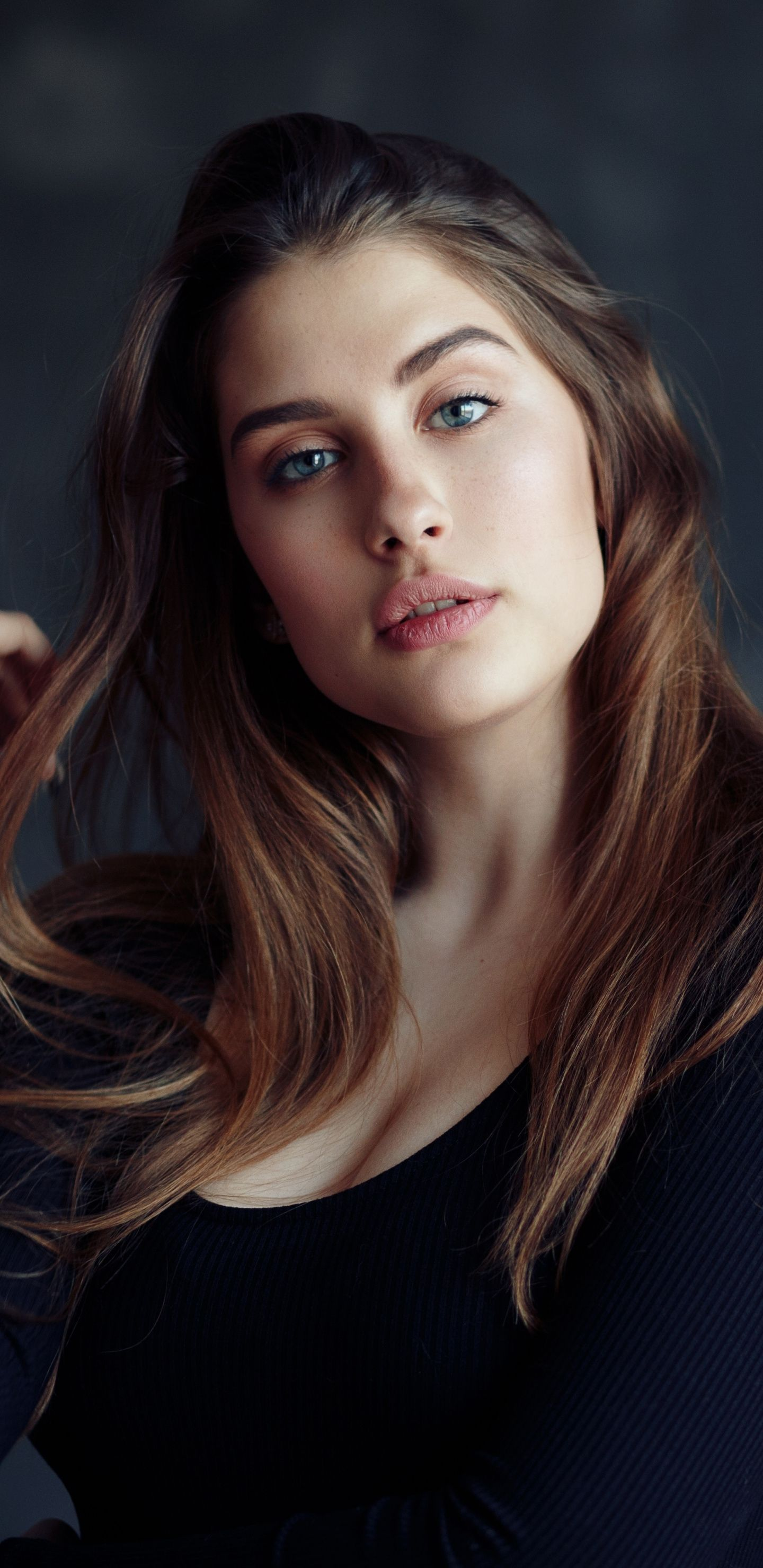 1440x2960 Hot And Brunette Girl Model Beautiful Wallpaper Girl Model Model Photos Beautiful Girl Wallpaper