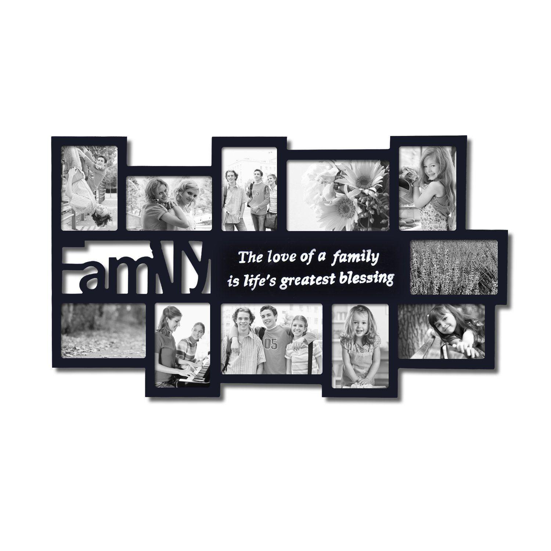 AmazonSmile - Adeco Black Decorative Wood \'\'Family\'\' Collage Wall ...